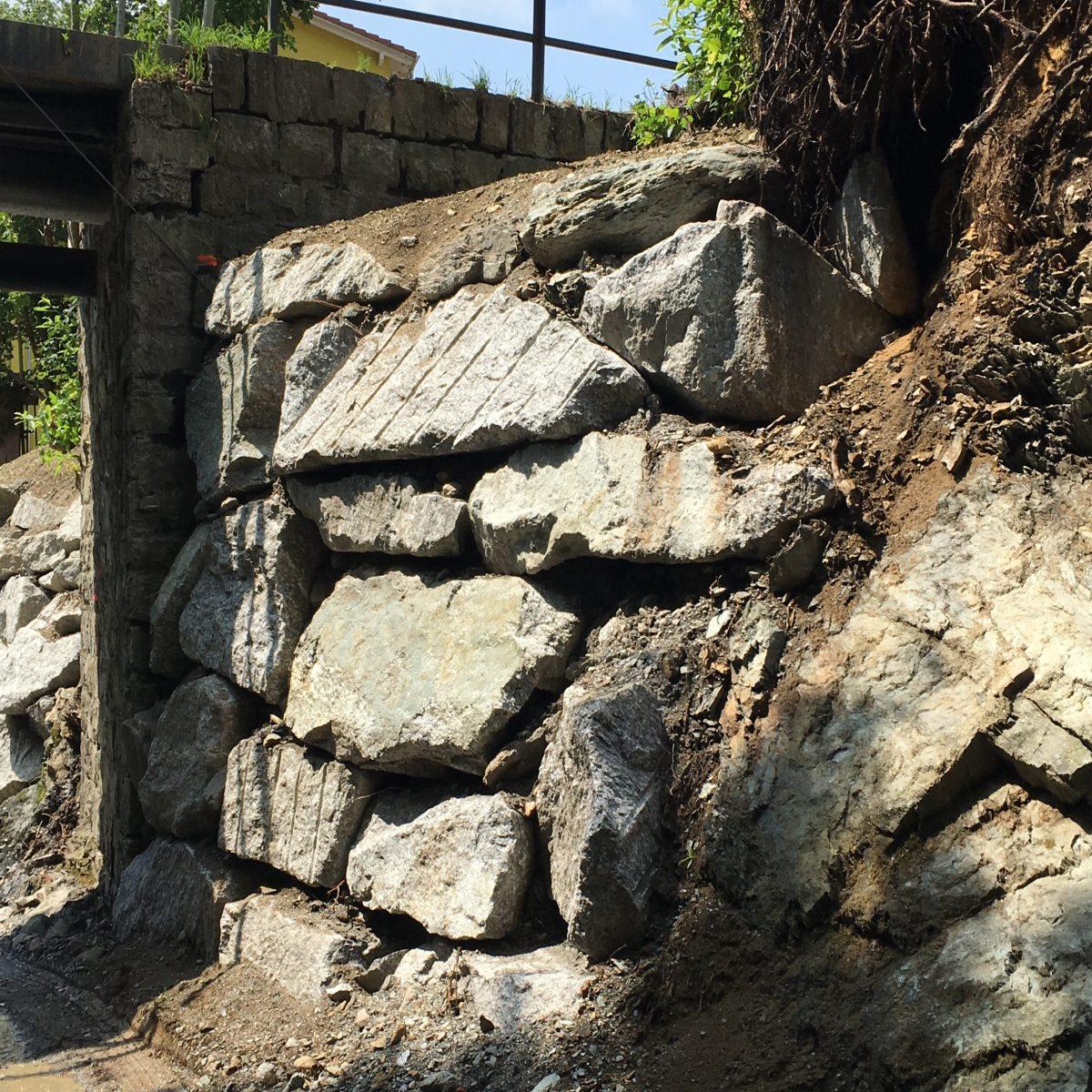 Sistemazione argine riale Capriasca, a Tesserete
