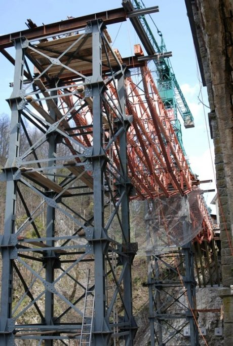 Ponte provvisorio sul torrente Ribellasca, Camedo