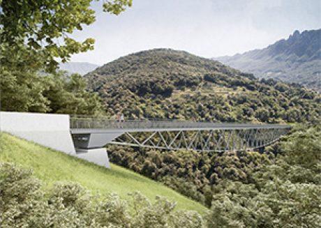 """Passerella ciclo-pedonale """"Ponte di Spada"""", 1° Rango Capriasca-Lugano"""