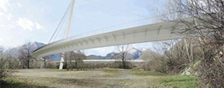 Passerella ciclo-pedonale, attraversamento Fiume Maggia