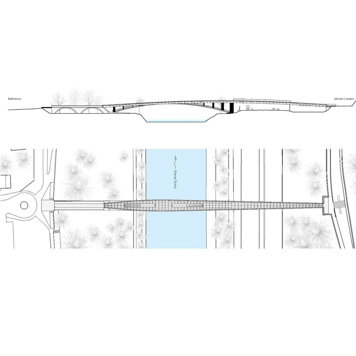 Passerella ciclo-pedonale Ex Torretta, 2° Rango Bellinzona