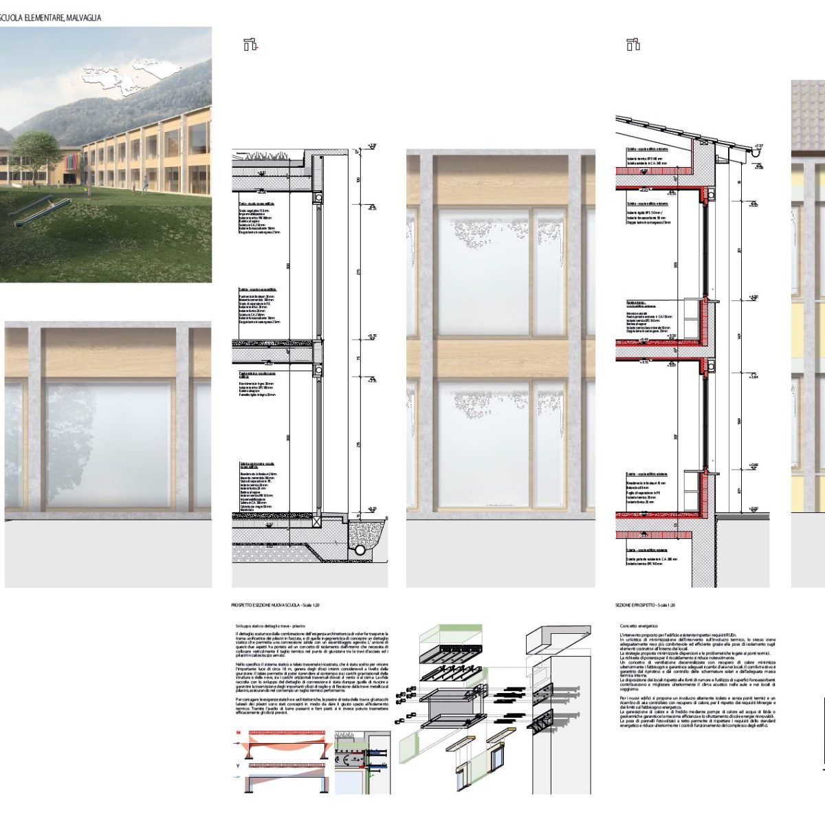 Concorso ristrutturazione e ampliamento, scuola elementare a Malvaglia