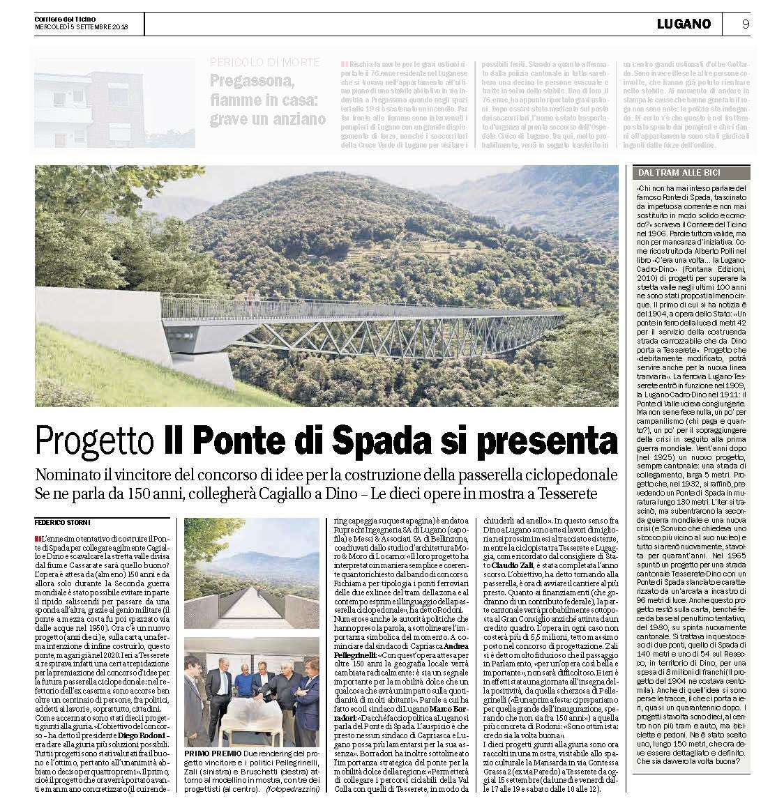 Corriere del Ticino, 05.09.2018