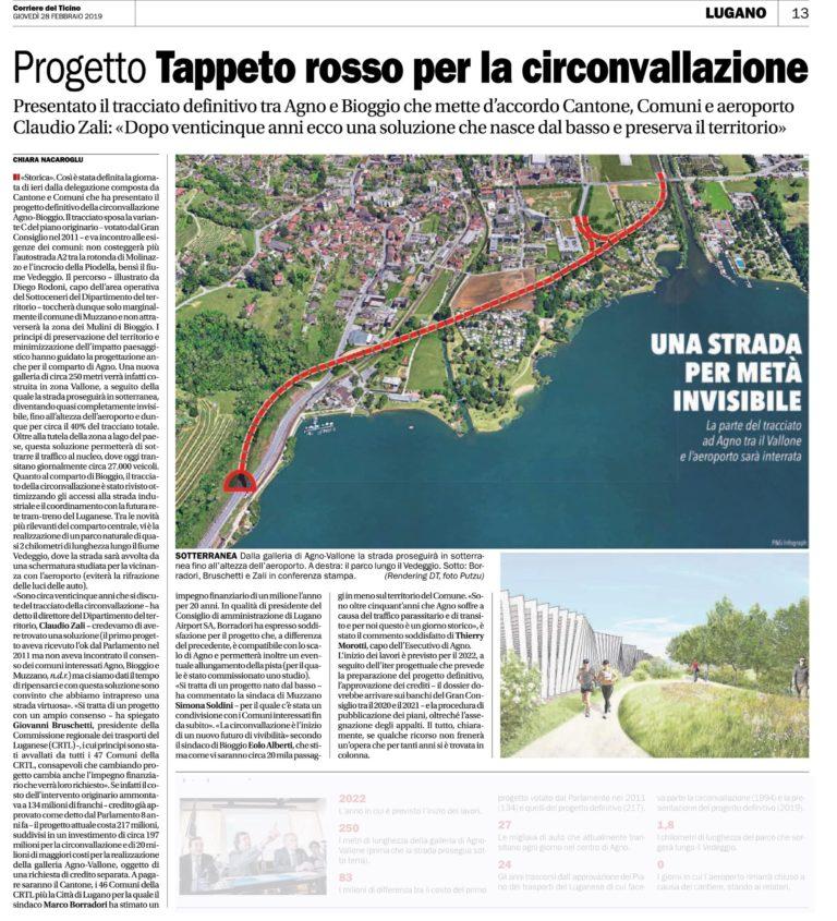 Corriere del Ticino, 28.02.2019