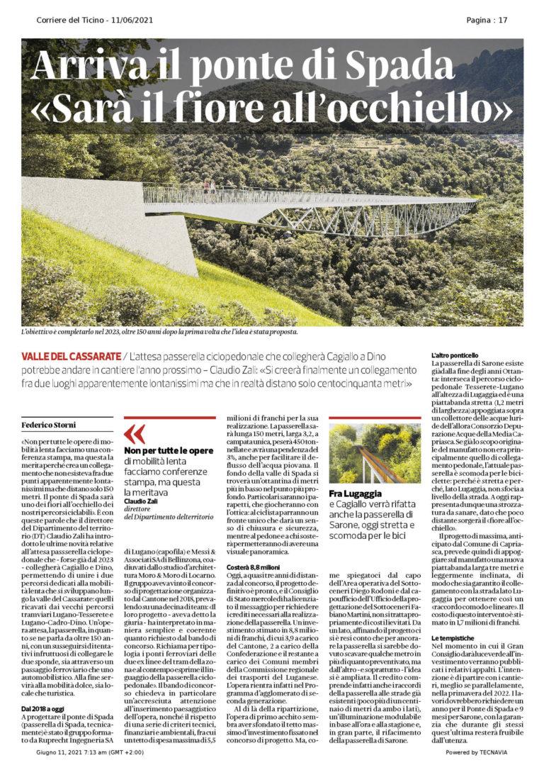 Corriere del Ticino, 11.06.2021