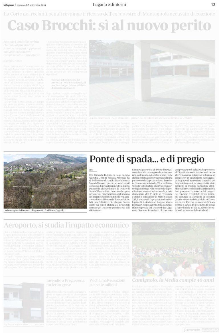 La Regione, 05.09.2018